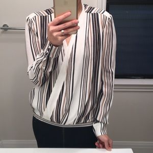 Torn by Robby Kobo stripe blouse!